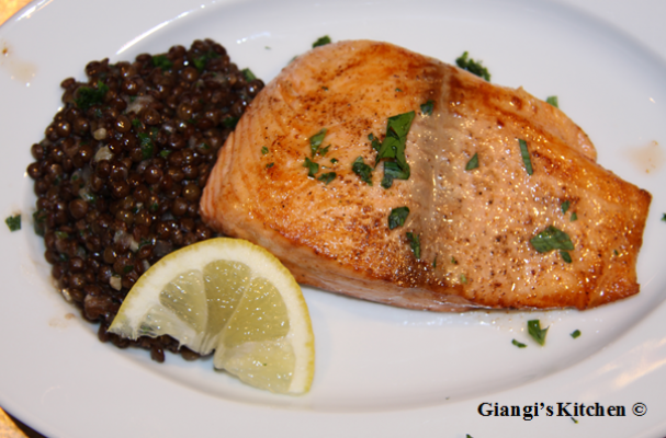 We love lentils! This Sauteed Salmon with Lentil s, is a savory ...