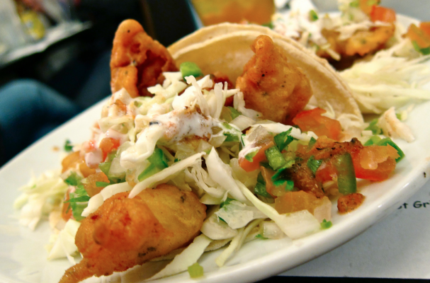 Foodista fabulous fish recipe beer battered fish tacos for Fried fish tacos recipe