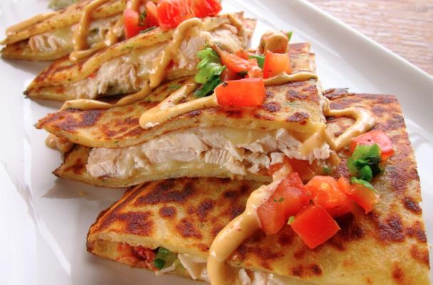 Foodista | Healthy Broccoli and Chicken Quesadilla