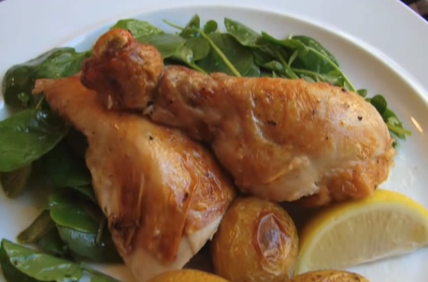 Foodista | Julia Child's Lemon Garlic Roast Chicken