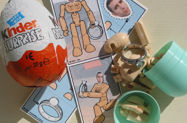Kinder Surprise Marriage Proposal