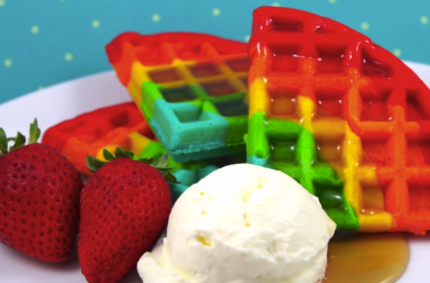 Foodista Awesome Rainbow Waffles
