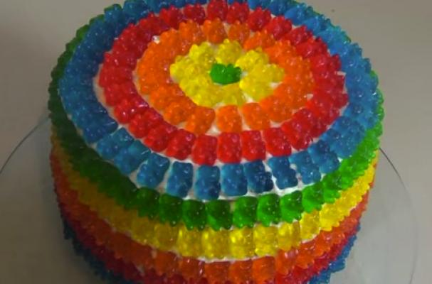 Foodista Gorgeous Gummy Bear Pinata Cake