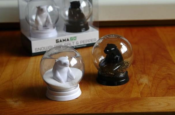 Snow Globe Salt & Pepper Shakers