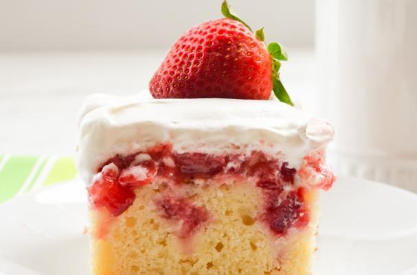 Diabetic Strawberry Shortcake Angel Food Cake