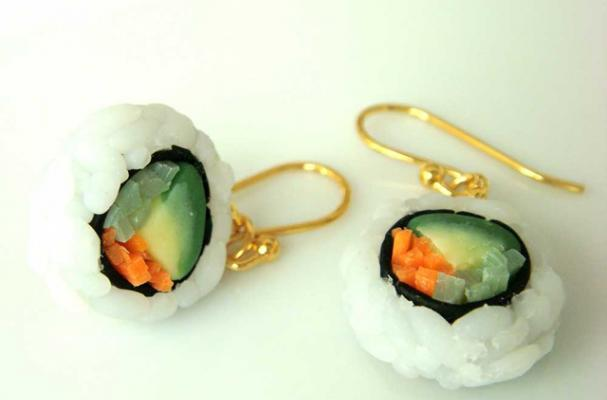 sushi california roll earrings
