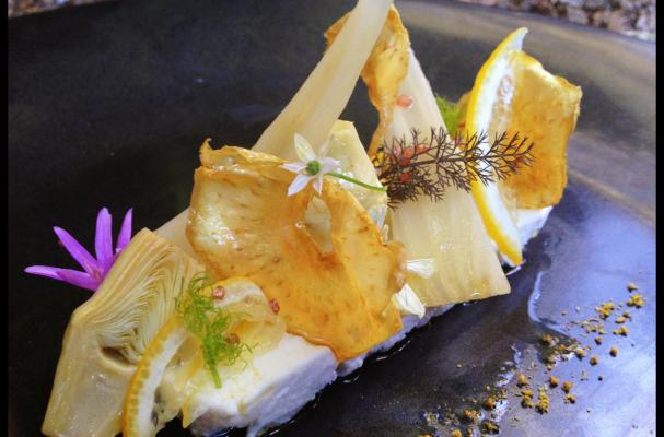 Wild Thistle Cheese with Baby Artichoke Confit