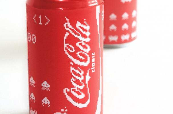 Space Invaders Coca-Cola Packaging