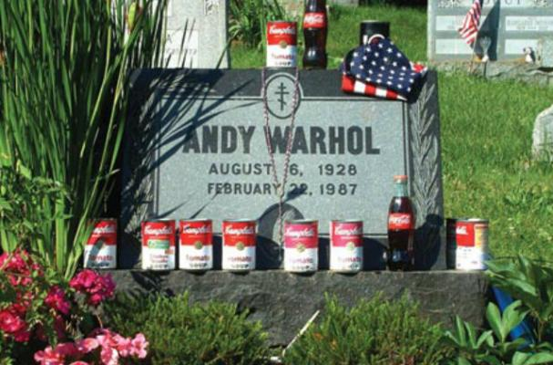 Fans Remember Andy Warhol With Cans of Campbell's Soup