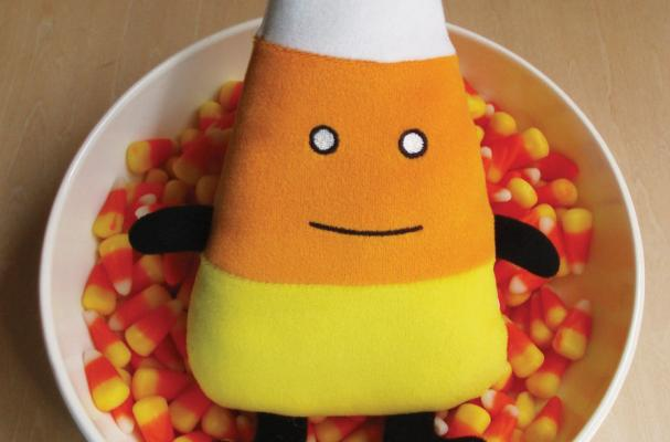 candy corn plushie