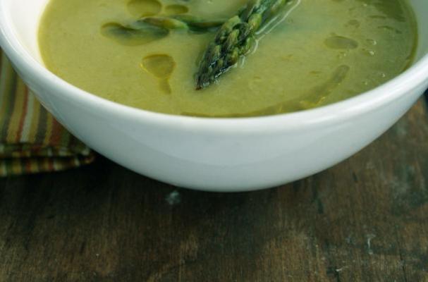 Sexy Cedar Smoked Asparagus Soup