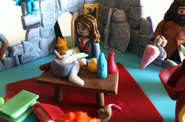 Harry Potter LEGO Cake