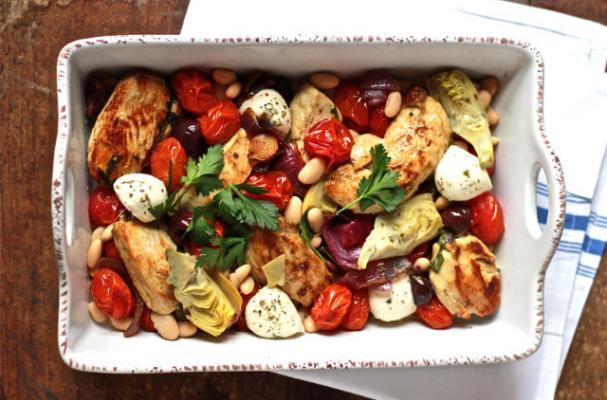 Foodista | Mediterranean Baked Chicken