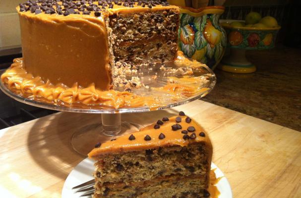 Banana Chocolate Chip Sour Cream Coffee Cake