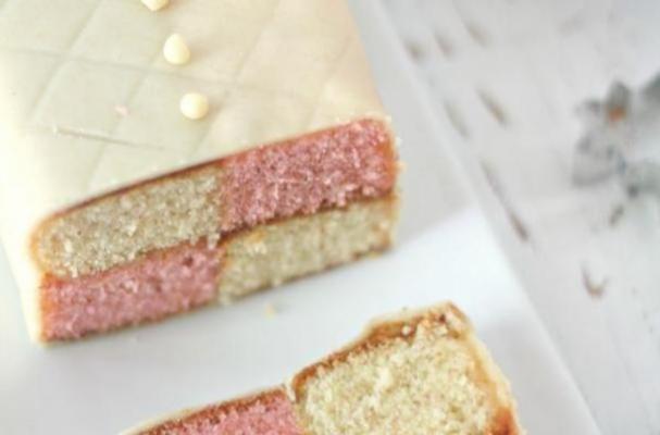 Traditional British Battenberg Cake