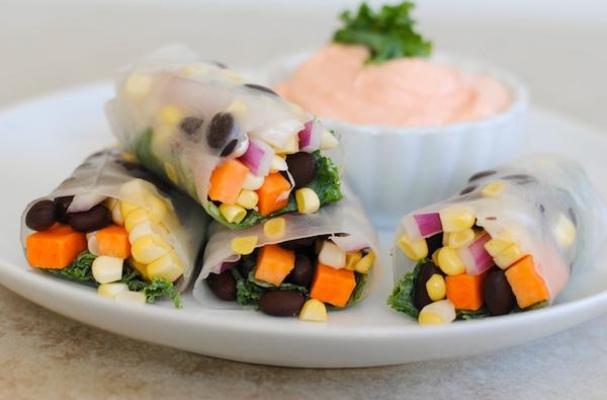 Veggie Black Bean Spring Rolls
