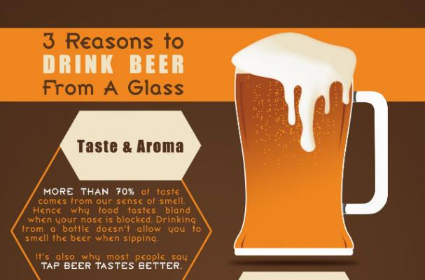Infographic: Top 3 Reasons to Drink Beer From a Glass