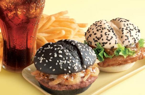 McDonald's Black and White Burger