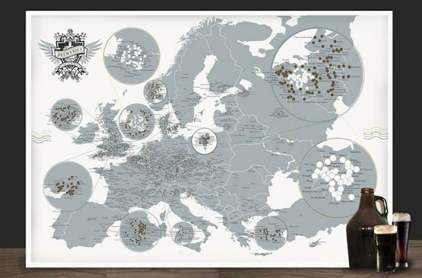 breweries of europe map