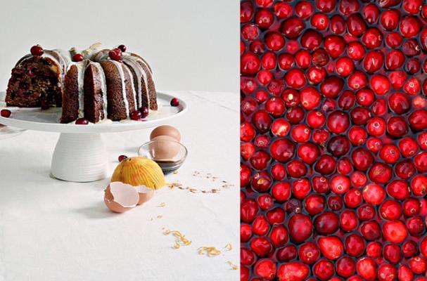 gluten free cranberry almond bundt cake