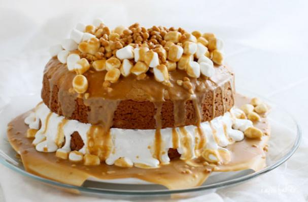 Scrumptious Butterscotch Peanut Butter Cake Recipe