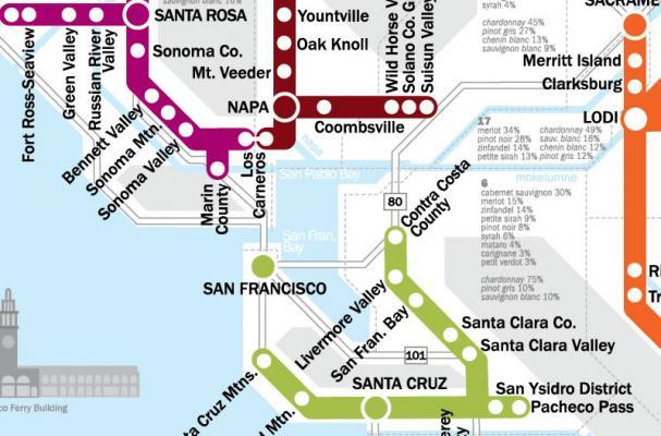 Foodista | The Metro Wine Map of California Helps Transfer ...
