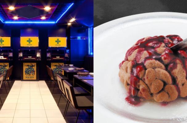 Foodista tokyo 39 s capcom bar serves video game inspired food for Food bar game
