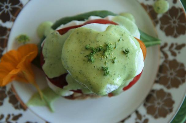 Sunday Brunch: Caprese Benedict with Basil Hollandaise