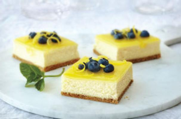 Foodista Delicious Double Lemon Cheesecake Bars