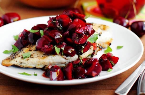 Quick and Easy Chicken Recipe: Grilled Chicken With Fresh Cherry Salsa