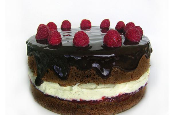 Chocolate Framboise Layer Cake