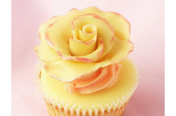 white chocolate rose yellow and pink