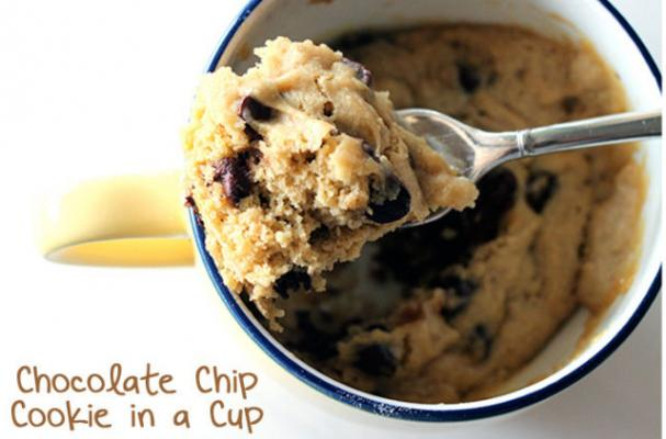 Chocolate Chip Cookies in a Cup
