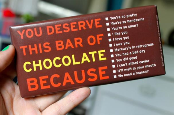 You Deserve This Chocolate Bar