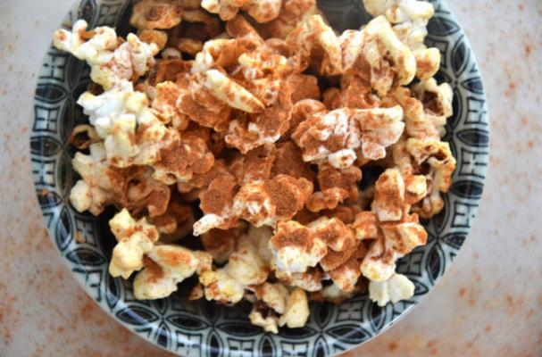 Coconut Cinnamon Popcorn is the Perfect Movie Night Snack