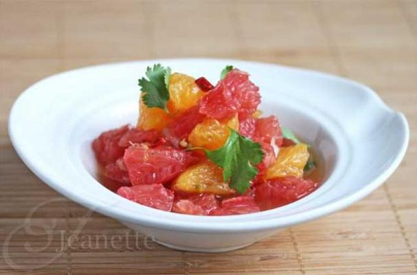 Thai Grapefruit and Orange Citrus Salad