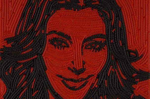 Kim Kardashian Licorice Portrait