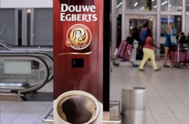 This Vending Machine Dispenses Coffee When You Yawn