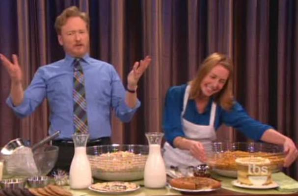 Christina Tosi Teaches Conan O'Brien About Cereal Milk