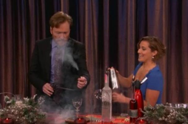 Conan O'Brien Makes Fiery Cocktails on Talk Show