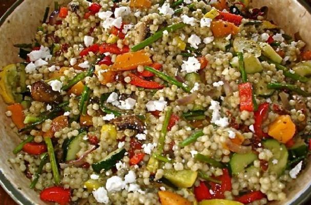 Foodista | Meatless Monday: Israeli Couscous with Roasted Vegetables