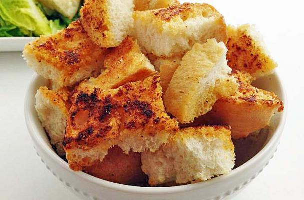 Foodista | Homemade Sourdough Garlic Croutons
