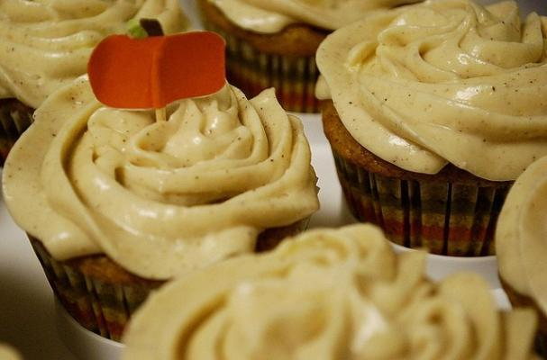 Foodista | Pumpkin Spice Cupcakes with Cinnamon Cream Cheese Frosting