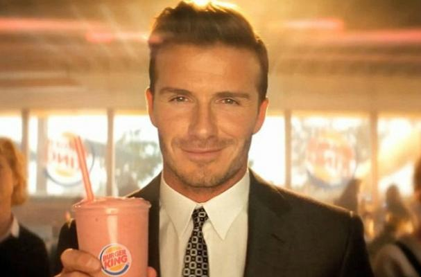David Beckham Helps Promote Burger King's New Smoothie