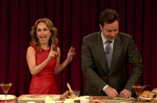 Giada De Laurentiis Drinks Beertinis with Jimmy Fallon