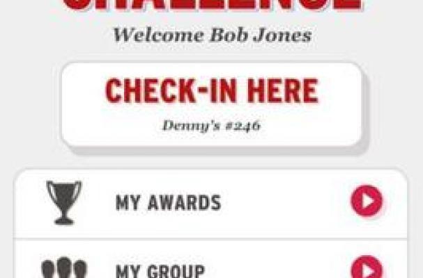 Denny's 50 State Challenge app