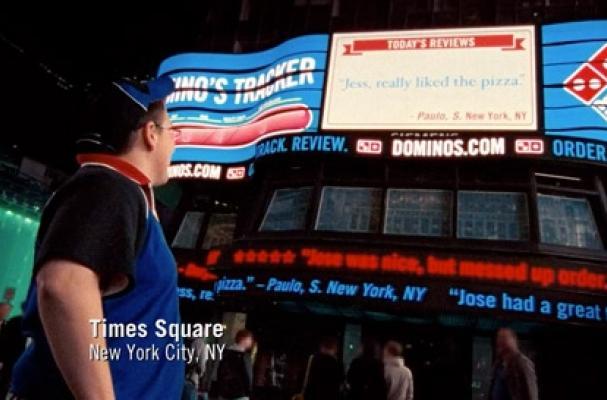 Domino's Times Square Billboard