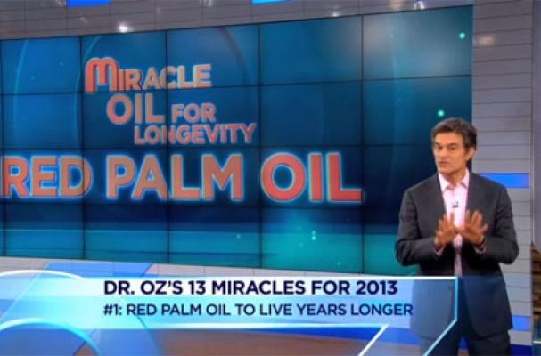 Dr. Oz Angers the Rainforest Action Network with Palm Oil Endorsement