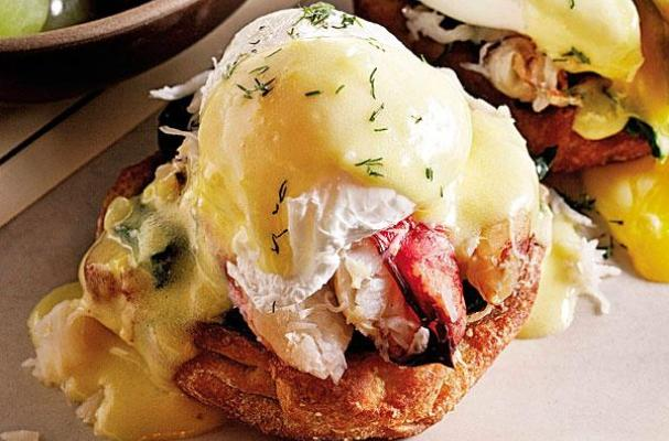 Dungeness Crab Eggs Benedict with Lemon Dill Hollandaise