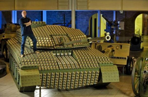 Eggs for Soldiers Tank Made of Egg Cartons
